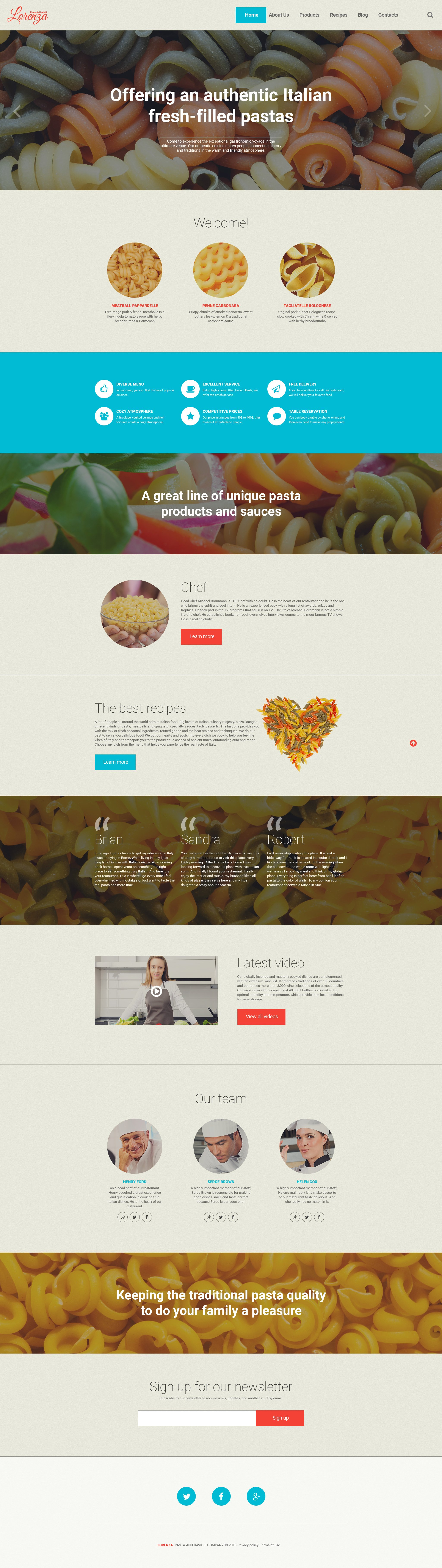 Адаптивный WordPress шаблон №58382 на тему итальянский ресторан