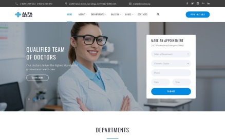 Alfa Health - Doctor Multipage HTML Modern Website Template