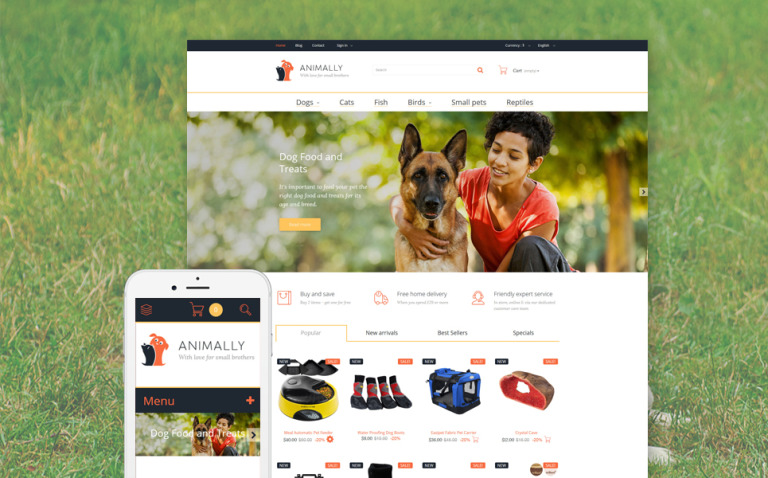 Animally PrestaShop Theme New Screenshots BIG