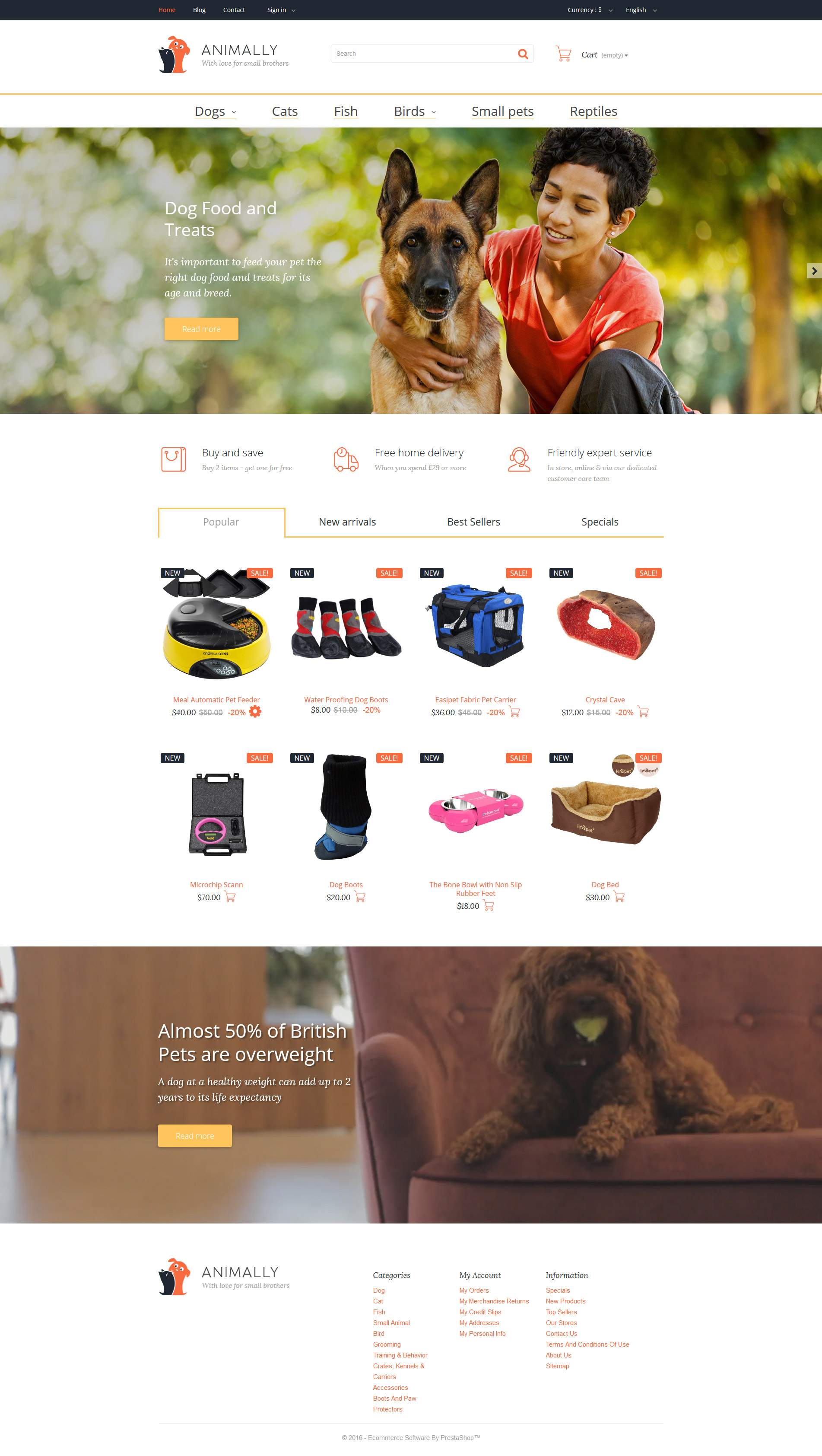 Animally PrestaShop Theme - screenshot