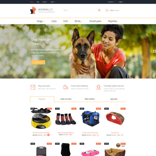 Animally - PrestaShop Template based on Bootstrap