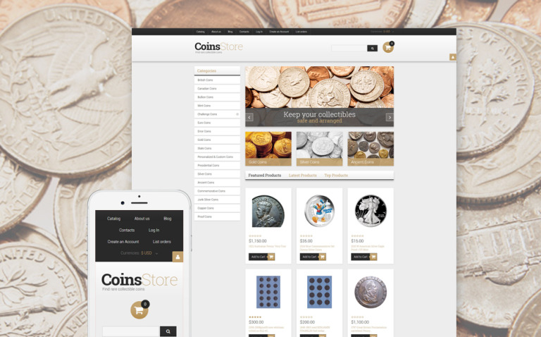Antique Store Responsive VirtueMart Template New Screenshots BIG