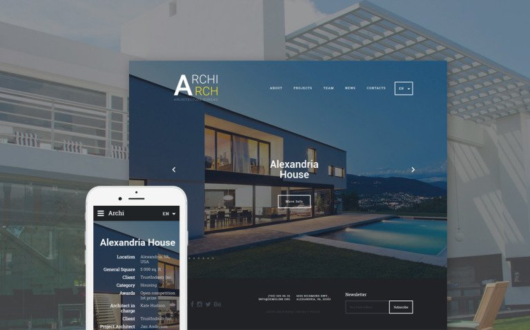 ArchiArch Website Template New Screenshots BIG
