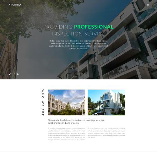 Architex - Responsive Website Template