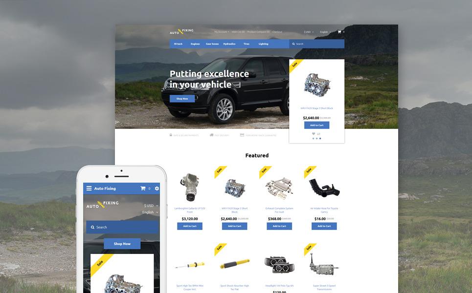 Auto Fixing OpenCart Template New Screenshots BIG