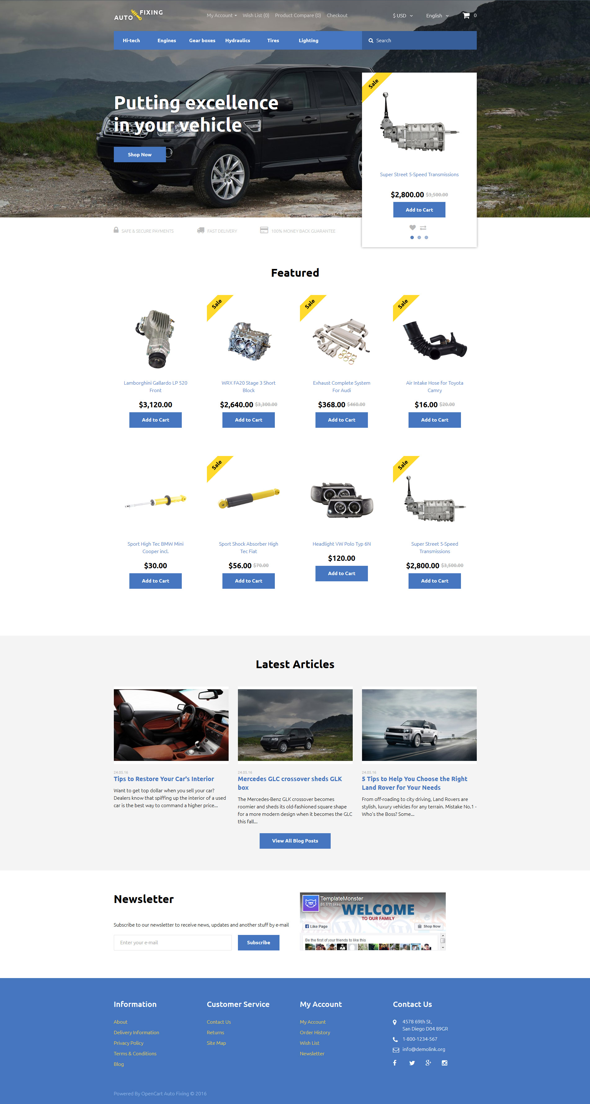 Auto Fixing OpenCart Template