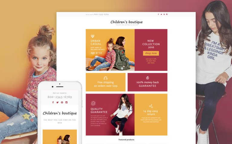 Baby Store Responsive Landing Page Template New Screenshots BIG