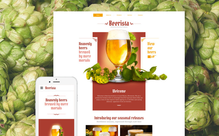 Beerista Website Template New Screenshots BIG