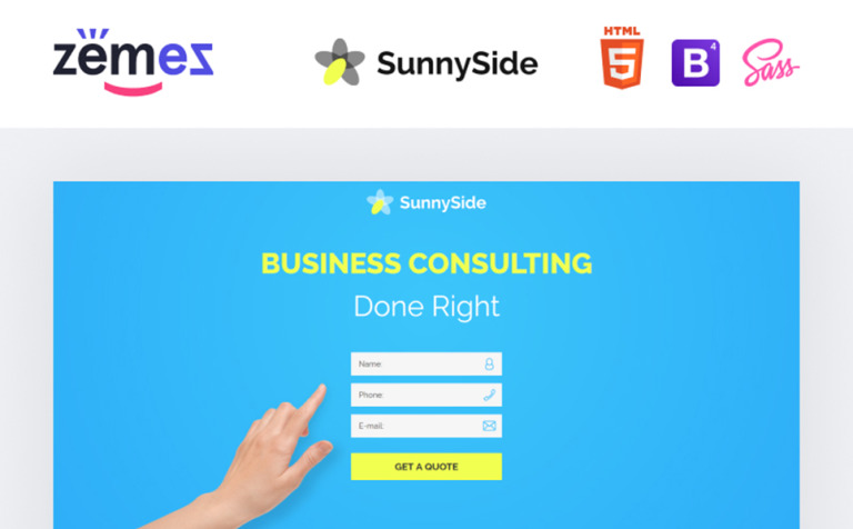 Business responsive landing page template 58374 business responsive landing page template new screenshots big friedricerecipe Image collections