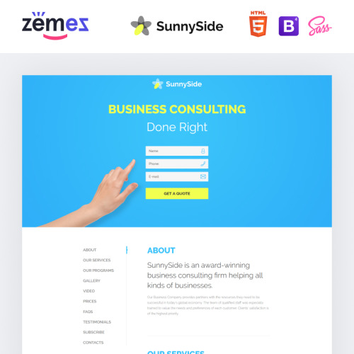 Your logo - Responsive Landing Page Template