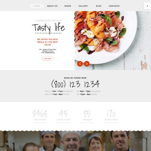 Tasty Life - Restaurant Template based on Bootstrap