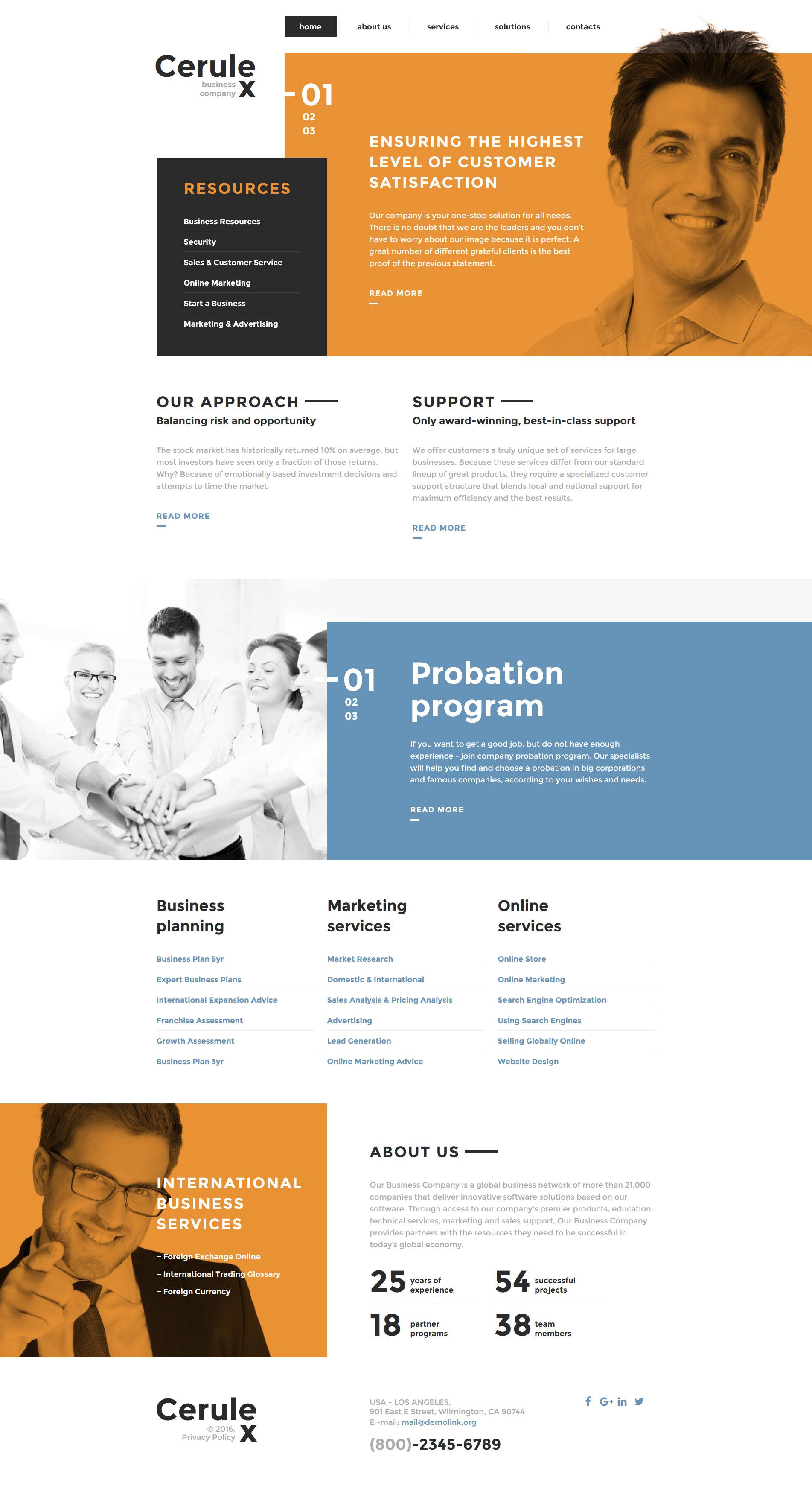 """""""Cerulex"""" Responsive Website template №58323 - screenshot"""