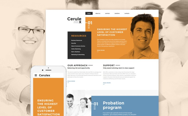 Cerulex Website Template