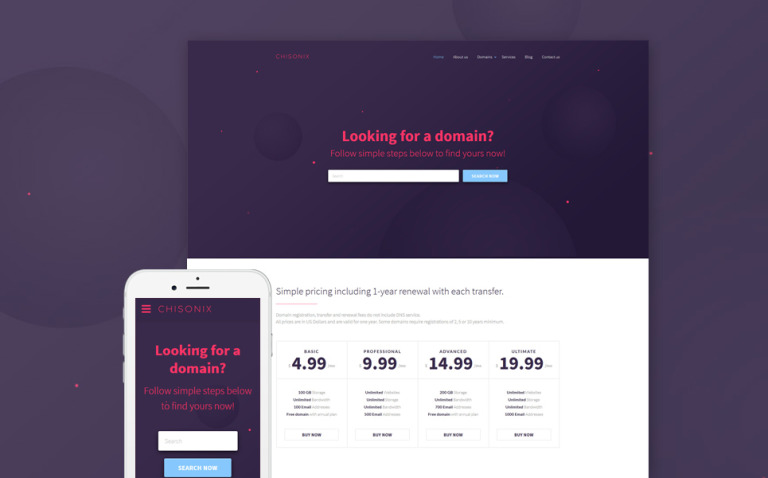 Chisonix Website Template New Screenshots BIG