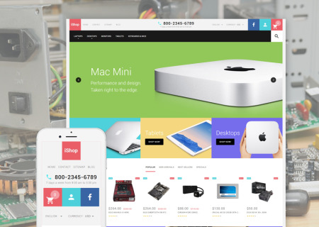 iShop Computer Store Responsive