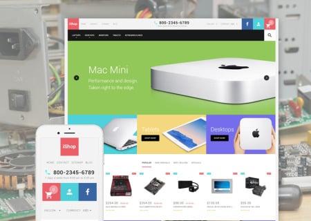 iShop Computer Store Responsive