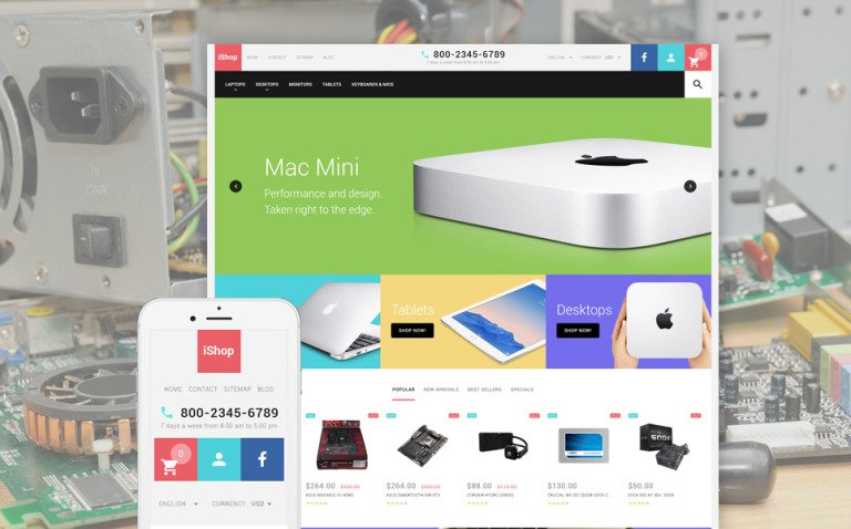 Computer Store Responsive PrestaShop Theme New Screenshots BIG