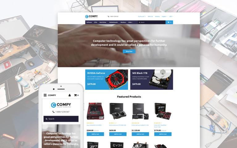 Compy OpenCart Template New Screenshots BIG