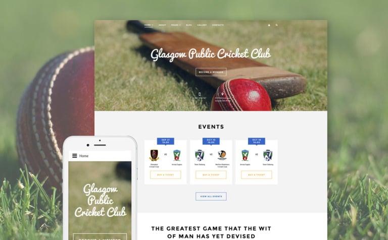 Cricket Club Joomla Template