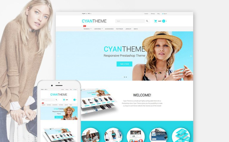 CyanTheme PrestaShop Theme New Screenshots BIG