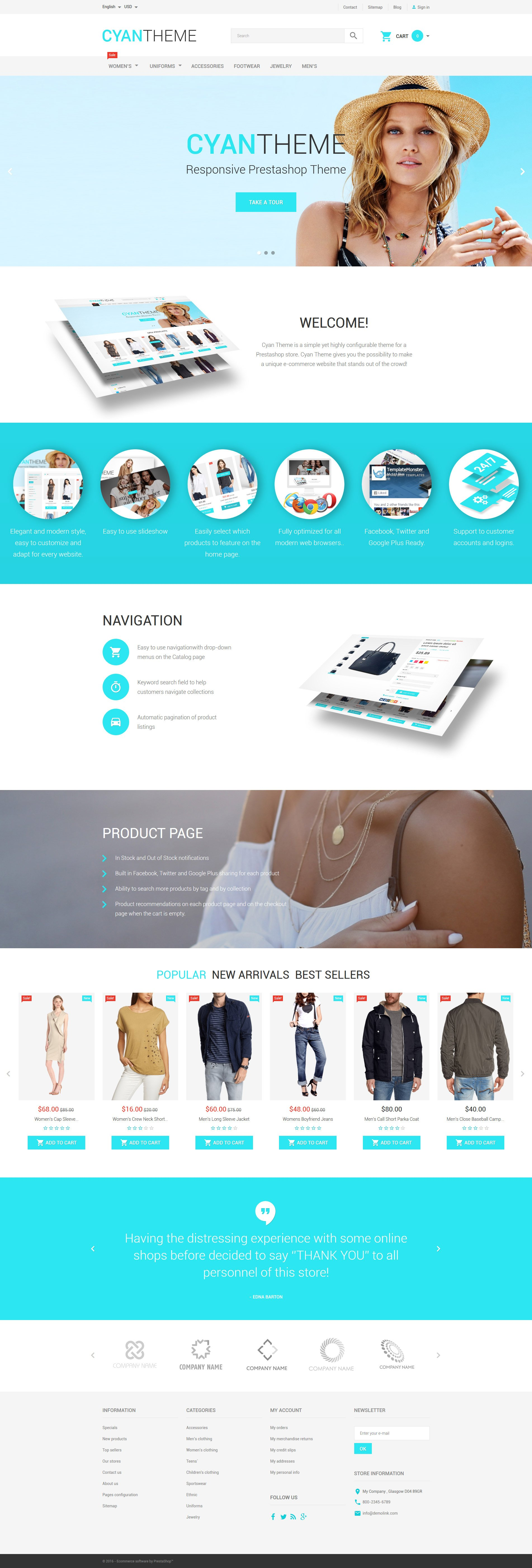 CyanTheme PrestaShop Theme