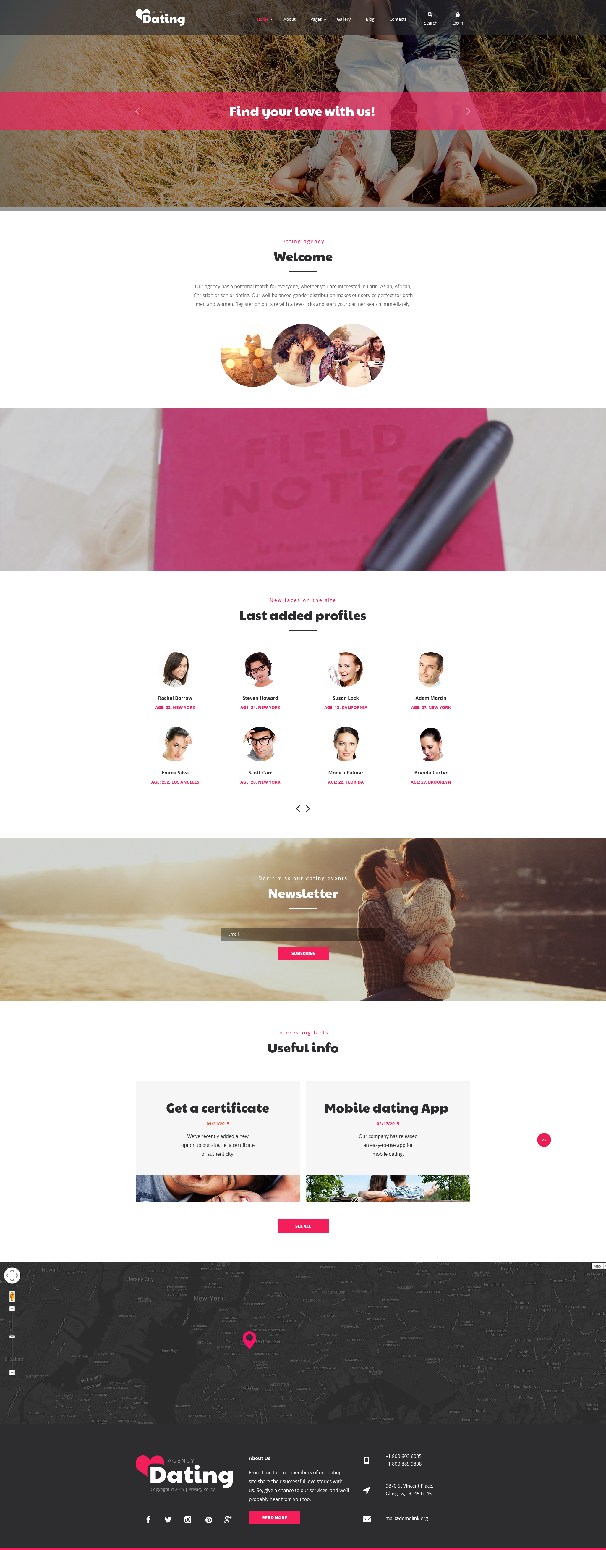 Joomla template Dating sito