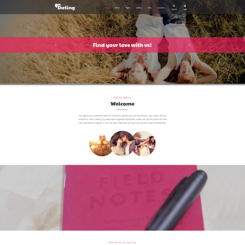 Dating - Joomla! Template based on Bootstrap