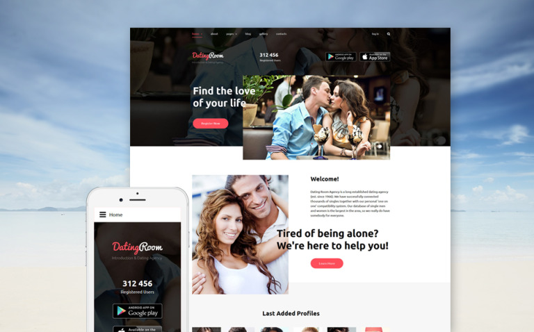 DatingRoom Joomla Template New Screenshots BIG