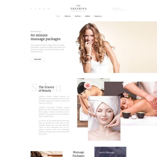 Dream Spa - Responsive Website Template