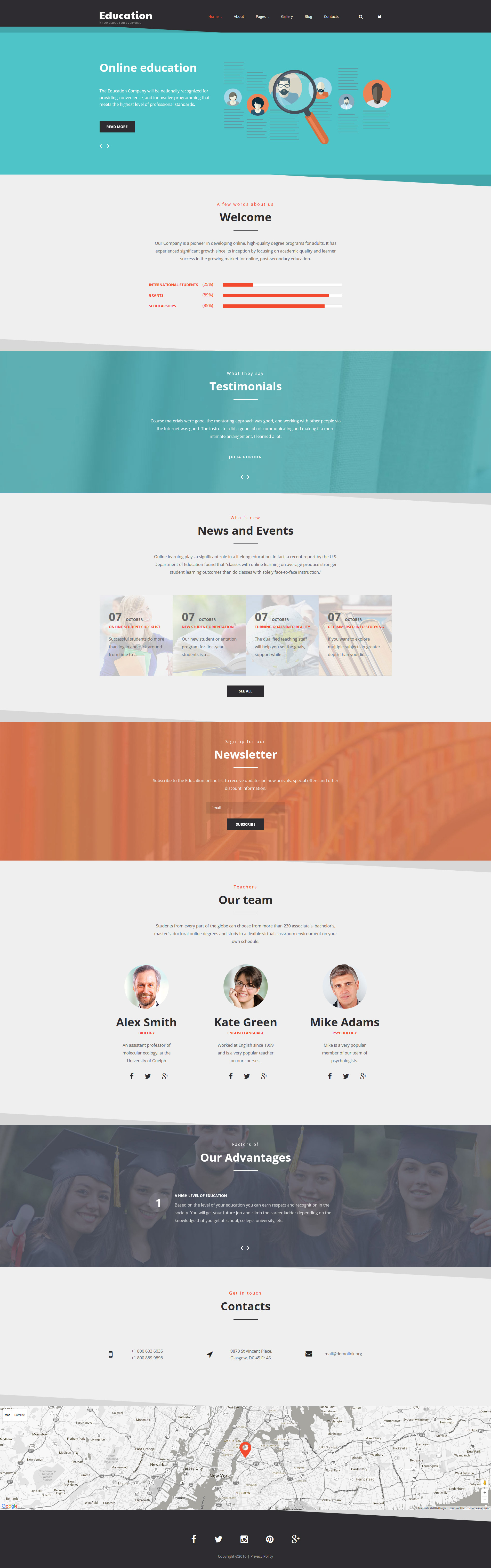 Education Joomla Template - screenshot
