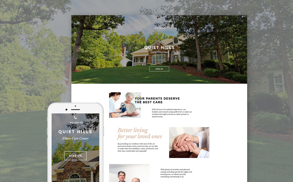 Elderly Care Responsive Landing Page Template New Screenshots BIG