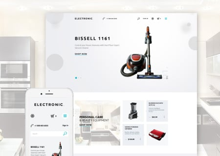 Electronics Store Responsive