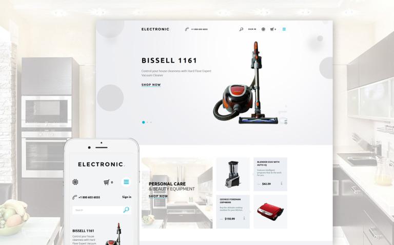 Electronics Store Responsive PrestaShop Theme New Screenshots BIG