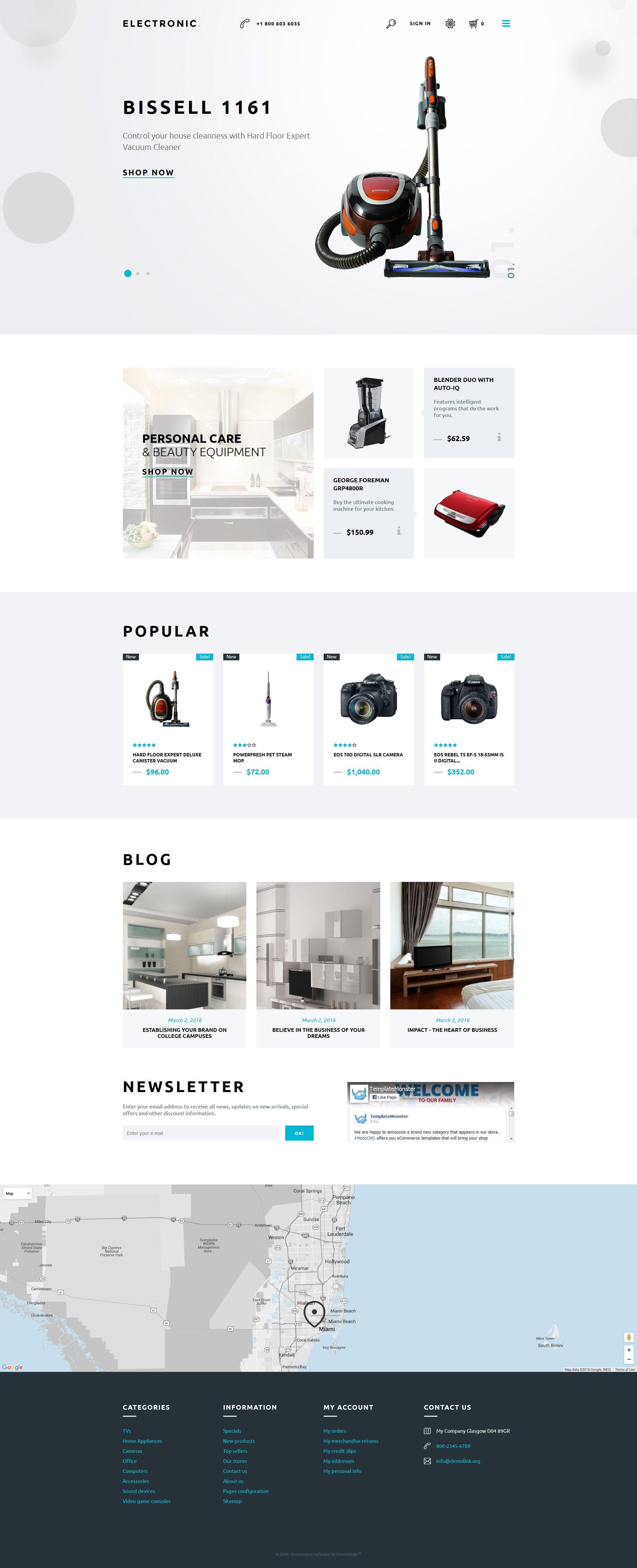 Electronics Store Responsive PrestaShop Theme - screenshot