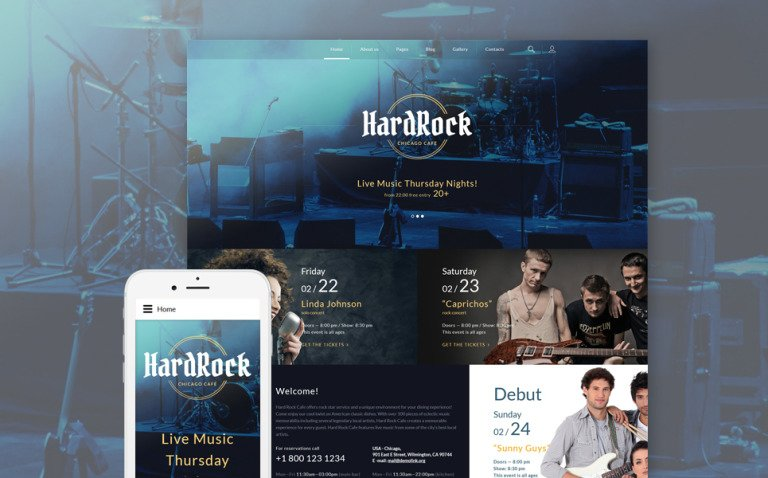 HardRock Joomla Template New Screenshots BIG