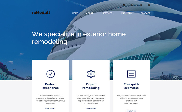 Home Remodeller Website Template