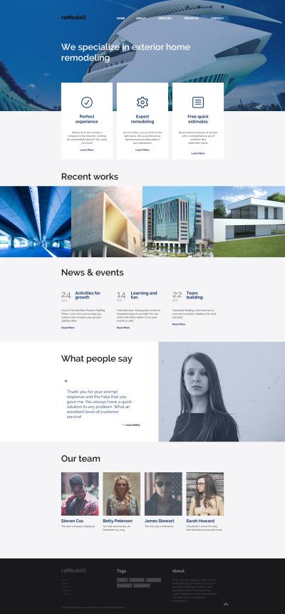 interior design website template #40040