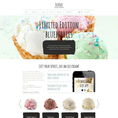 Ice Cream Joomla Template