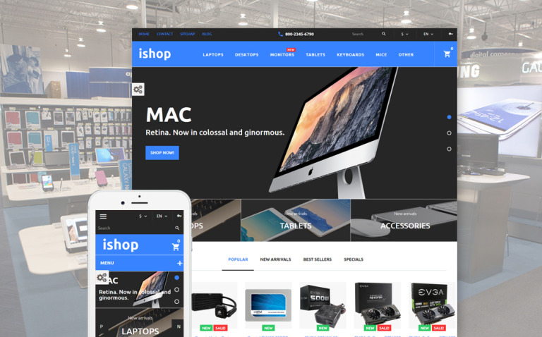 iShop - Computer Store PrestaShop Theme New Screenshots BIG