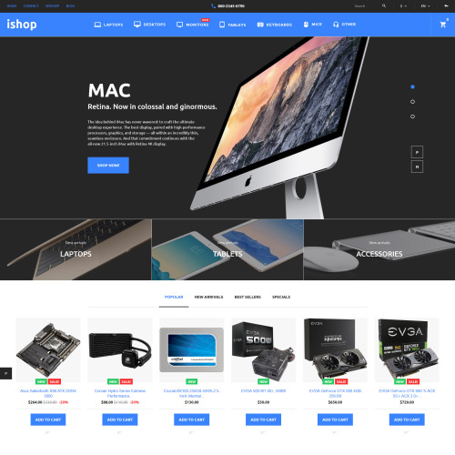 iShop  - PrestaShop Template based on Bootstrap