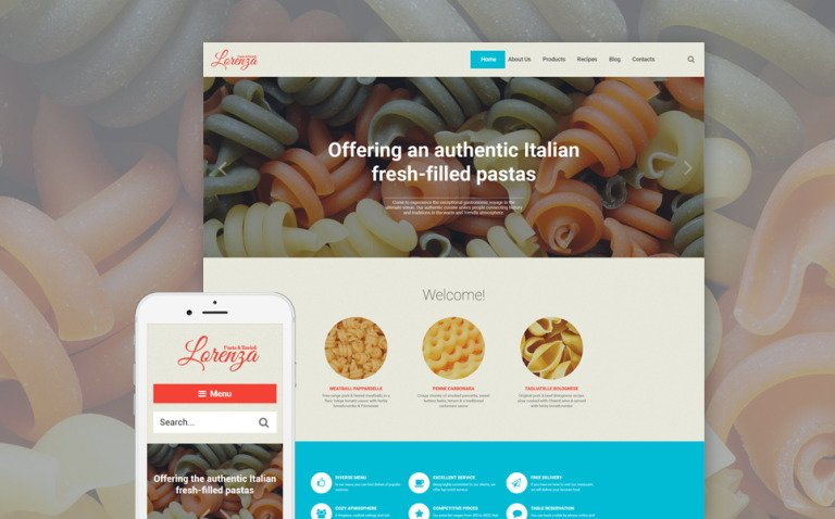 Italian Restaurant Responsive WordPress Theme New Screenshots BIG