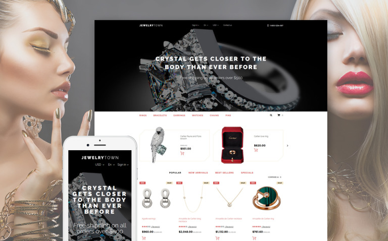 Jewelry Town PrestaShop Theme New Screenshots BIG