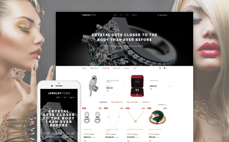 Jewelry Town PrestaShop Theme