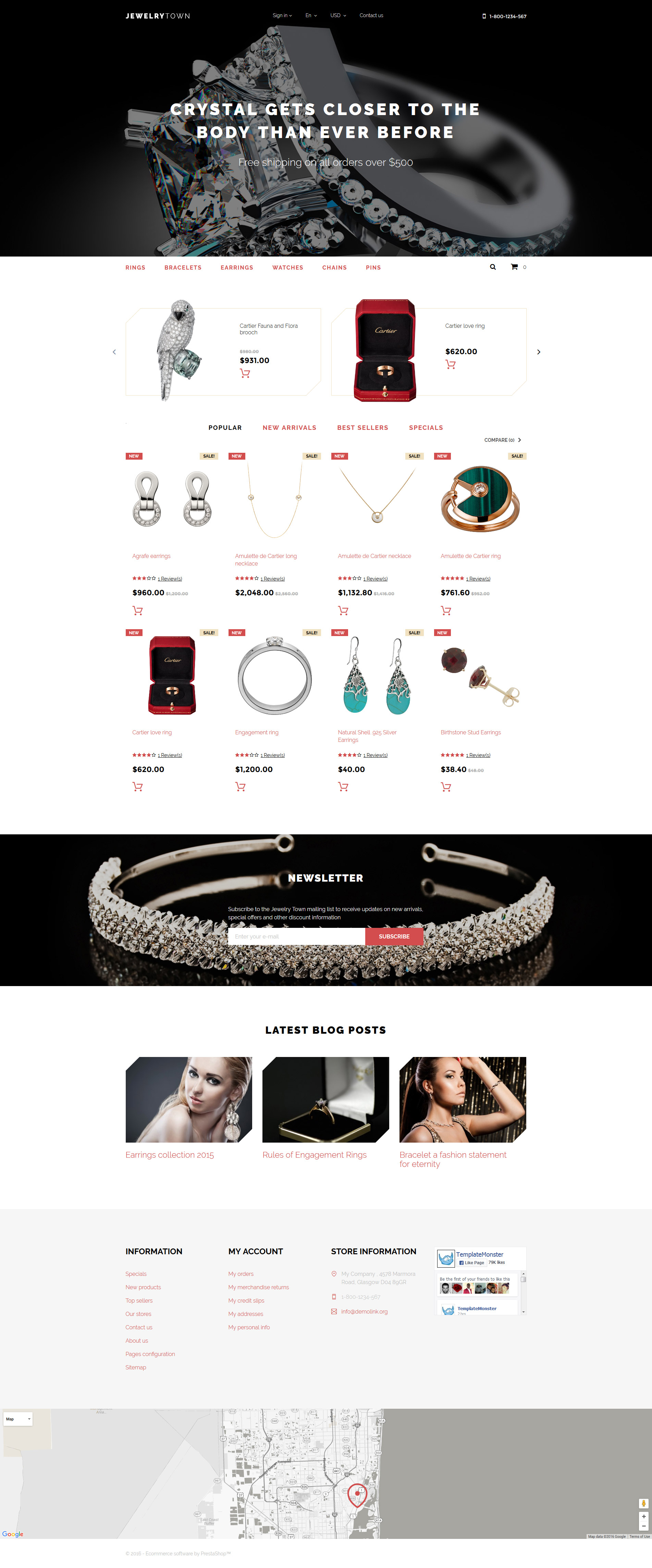 Jewelry Town PrestaShop Theme - screenshot