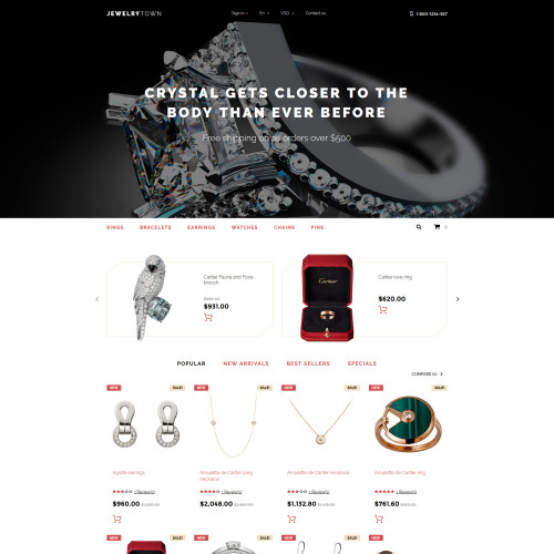 Jewelry Town - PrestaShop Template based on Bootstrap