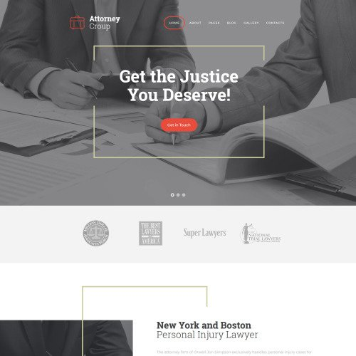 Attorney Group - Joomla! Template based on Bootstrap