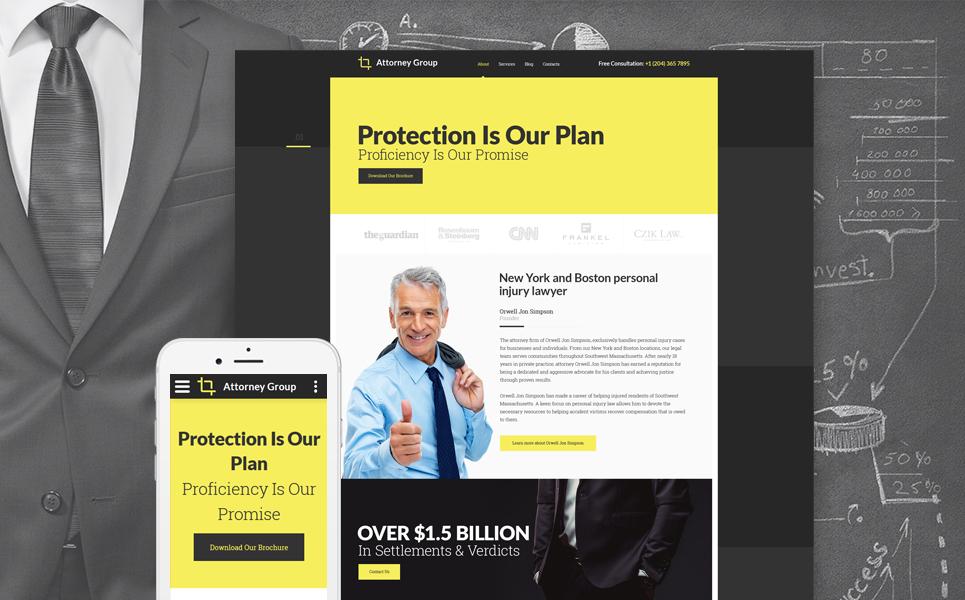 law firm responsive website template 58315. Black Bedroom Furniture Sets. Home Design Ideas