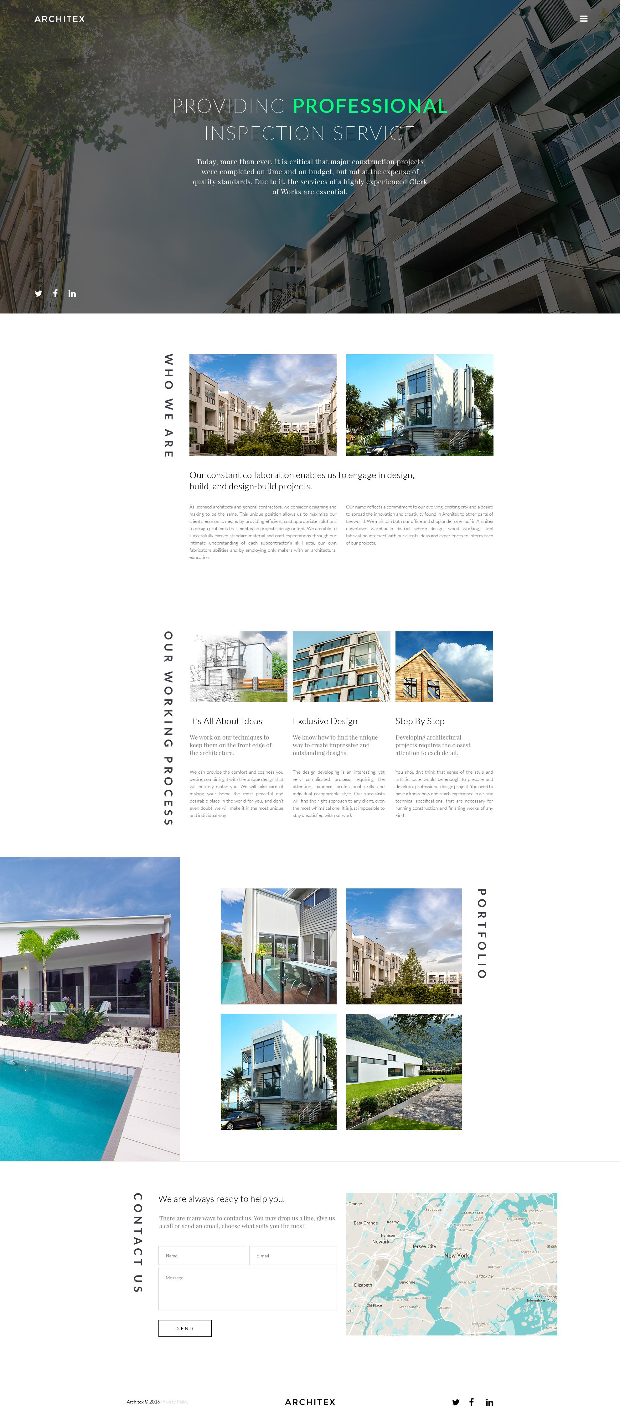 Modèle Web adaptatif pour site d'architecture #58371 - screenshot