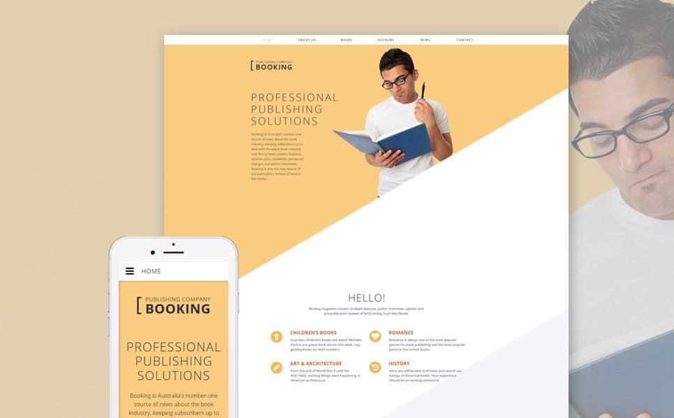 Template siti web 58358 per un sito di casa editrice for Siti design casa