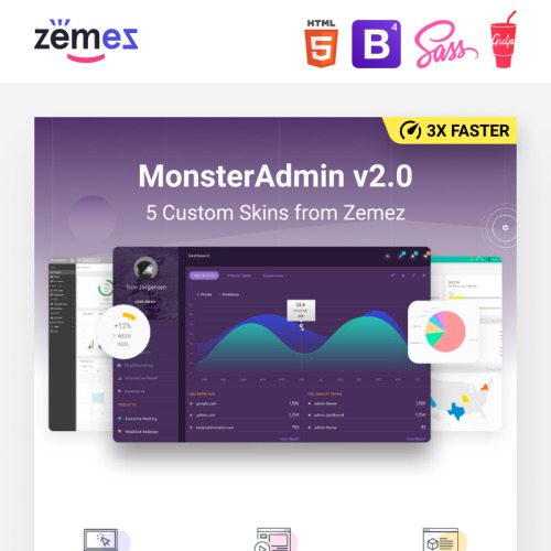 MonsterAdmin Dashboard - Admin Template